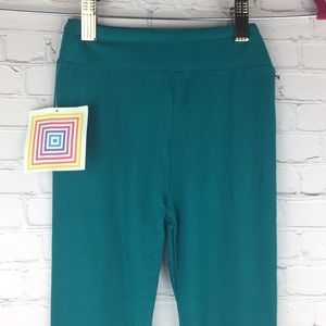 💎SOFT Kids bright Teal LuLaRoe leggings L/XL